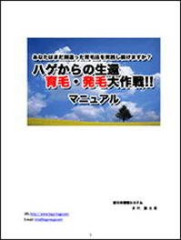【ハゲからの生還育毛・発毛大作戦!!】メールサポート付