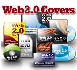 【Web2.0 Covers】プロ並みのカッコイイ商品画像が欲しいインフォプレナーの方へ・クリックで「効果」  「シェイプ」を組み合わせるだけ!わずか3分で高品質で美しい3Dのオリジナル商品画像を簡単に作成!