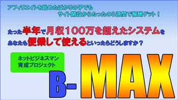 ネットビジネスマン育成プロジェクト【B-max】ノーマルプラン(一括払い)