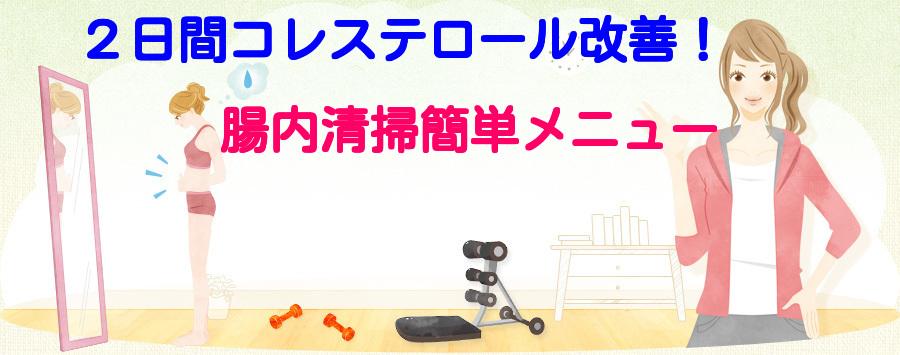 2日間コレステロール改善!腸内清掃簡単メニュー(Rev.2)