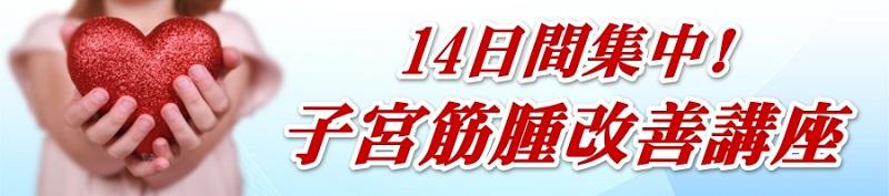 14日間集中!子宮筋腫・改善講座
