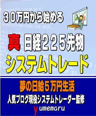人気ブログシステムトレーダー監修 30万円から始められる日経225先物システムトレード 1日5万円儲けるための投資術