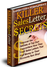 キラーセールスレターの秘密とは?(ebookのみ)あなたはもう今日からプロのコピーライターを雇う必要はありません。初心者にも分かりやすくプロの書き方を伝授します!【先着100名様限定ボーナス付き】