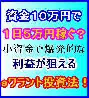■資金10万円で1日5万円稼ぐ?小資金で爆発的な利益を狙うeワラント投資法!の画像