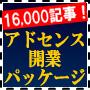 アドセンス開業パッケージ/16,000記事