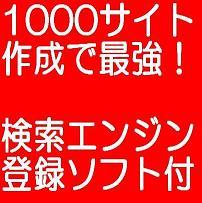1000サイト作成による最強アフィリエイトの極意!!強化版【検索エンジン登録ソフト付き】