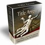 ウェブページにアニメーションするページタイトルを簡単に設置できるツール!「Title Arrow」<Prometheusセット商品>