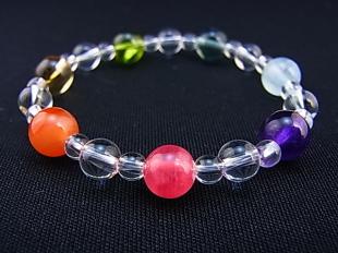 虹の7色による厄除けブレスレット(スタイリッシュ) 100050