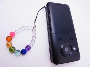 厄除け携帯ストラップ全8mm玉シンプルデザイン