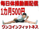 ワンコインフィットネス(一ヶ月500円で毎日体操動画配信)