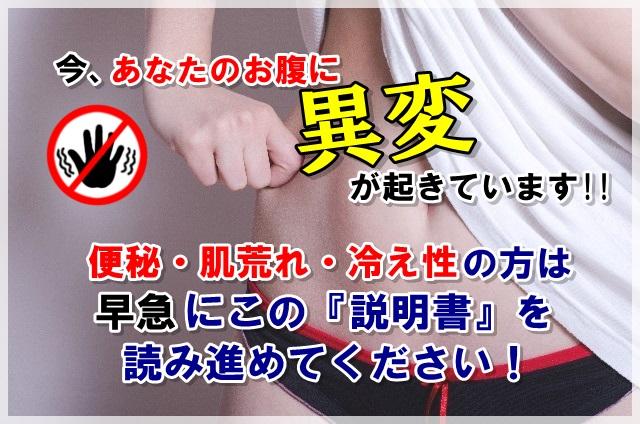 ~便秘・肌荒れ・冷え性を改善!~ 腸内洗浄プログラム