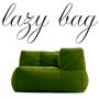 LAZY BAG 25-CF 片肘ウレタンファブリックソファ ライム色