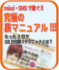【パソコンど素人・1日30分】mixi・SNSで稼ぐ!!究極のマニュアル!!!
