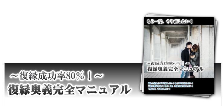 復縁奥義完全マニュアル【再販権付】
