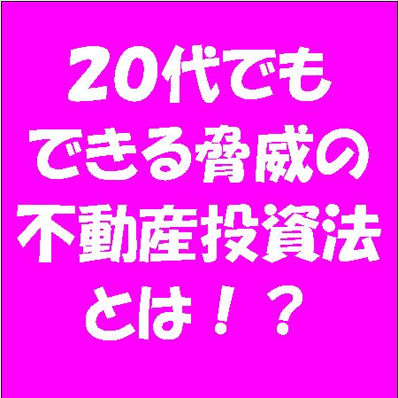 【20代不動産投資法】[AIR-20]の画像