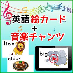 英語絵カードDX + 音楽チャンツセット